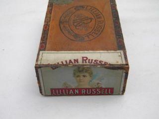 Lillian Russell Vintage Wood Cigar Box