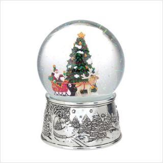 Reed Barton Musical Snow Globes Santa Sleigh Snow Globe 4042