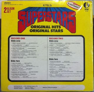 Various K Tel Superstars Original Hits 2 LP Mint TC 227 Vinyl Record
