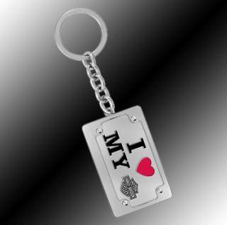 Harley Davidson Key Chain Slogan with I Love My Harley