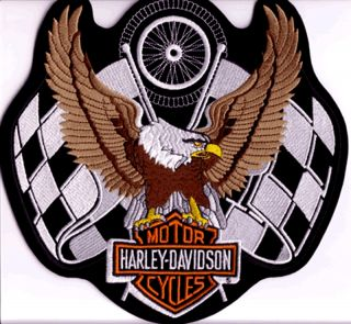 Harley Davidson Racing Eagle Patch emblemes brand New With