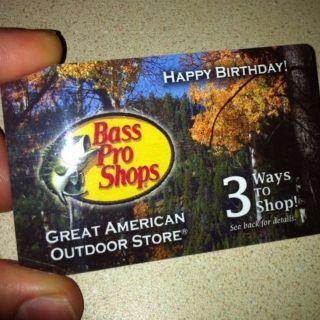 Bass Pro Shops $50 Gift Card Happy Birthday Hunter Camp