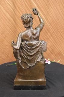 Statue Musician Playing Ancient Music Greek Tibia Roman Deco