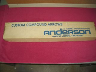 Vintage Anderson Archery Arrow Box Grand Ledge Mich