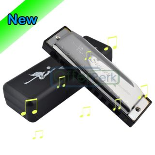 High Quality Silver Special Swan Harmonica 10 Holes Key of C Silver