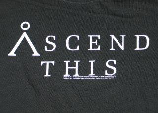 Stargate SG 1 Ascend This Glyph Logo Phrase T Shirt XXL