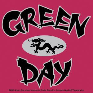 Green Day Vinyl Sticker Dragon Logo Punk Band New