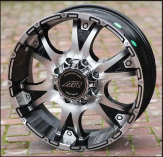 Black wheels Dagger ar889 Chevy Gmc Dodge 2500 3500 Trucks 8 lug 8x6 5