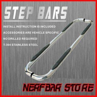 2012 GMC Sierra 1500 HD Extended Cab Nerf Bar Side Steps Rails Running
