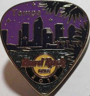 Hard Rock Cafe Tampa 2012 Postcard Series Guitar Pick Pin Hot New in