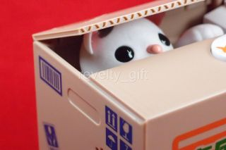 Cute Itazura Kitty Cat Steal Money Coin Box Piggy Bank Gift Saving