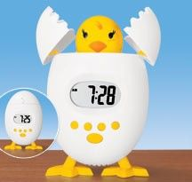 Chick Alarm Clock w/ large digital LCD display and snooze button