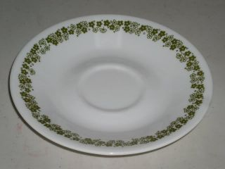Corelle Spring Blossom Green Pattern Saucer