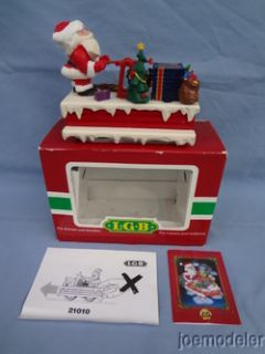 LGB 21010 Christmas Santa Claus Handcar w Box Discontinued