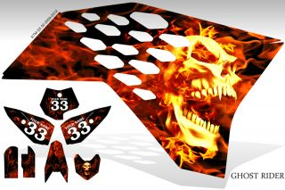 2009 2012 KTM SX 50 GHOST RIDER GRAPHIC KIT