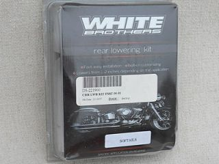 Harley Davidson Softail   White Brothers Chrome Lowering Kit [New]