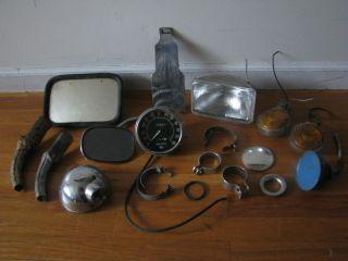 Harley Davidson Bike Parts Vintage Odometer Plate