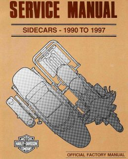 TO 1997 HARLEY DAVIDSON SIDECAR SERVICE MANUAL TLE RLE TLR SIDECARS