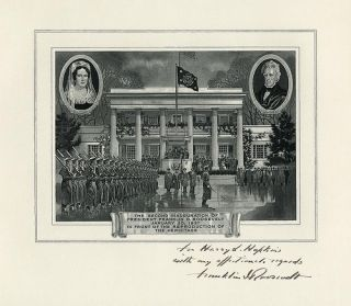 Franklin Roosevelt Second Inauguaration Print Signed  To Harry Hopkins