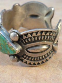 Vintage Harry Morgan Navajo Sterling Silver Turquoise Bracelet Ring