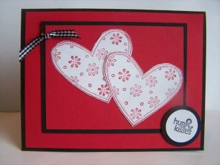 Stampin Up Handmade Greeting Card Valentine HRT PY Lot