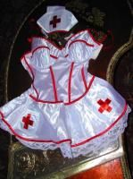 Lady Princess Sexy Red Cross Nurse Costume Sz M