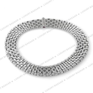 Roberto Coin 18K White Gold Apassionata Diamond Necklace
