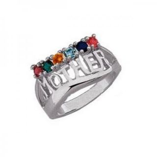 Personalized for You Mother Birthstone Ring Up to 7 Stones Silver or