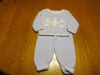 Hartstrings Knit 2 PC Outfit Used Infant Baby Boy Clothing Clothes