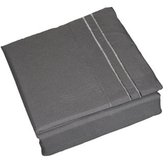6pcs Solid Grey Super Soft Microfiber Sheet Set Queen New