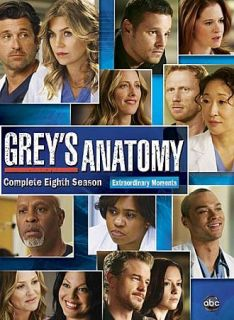 Greys Anatomy The Complete Eighth Season DVD 2012 6 Disc Set Season 8
