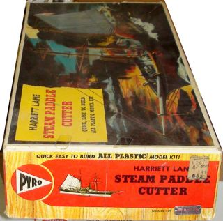 1857 BLOCKADE RUNNER HARRIET LANE PYRO PLASTICS 1950s 60s Classic Kit