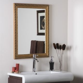 Decor Wonderland Marina Gold Framed Wall Mirror