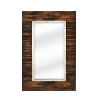 Majestic Mirror Mixed Media Rectangular Bevel Wall Mirror   2010 B