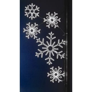 Holiday Lighting Specialists Pole Decoration Snowflake Array in Pure