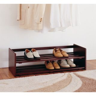 Powell Contemporary Merlot Wood Entryway Storage Bench