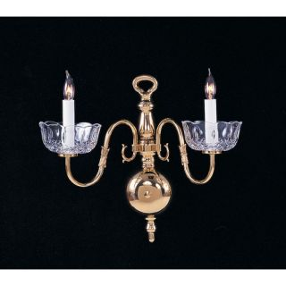 Crystorama Colonial 2 Light Wall Sconce   4202 PB