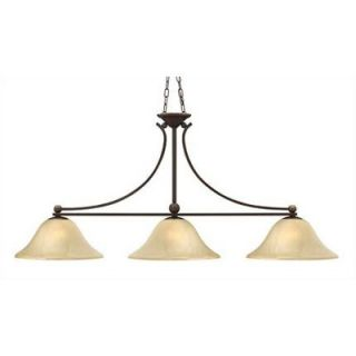 Philips Forecast Lighting Pacifica Four Light Island Pendant in Merlot