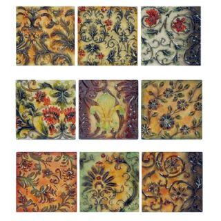 Crestview Floral Murals Wall Decor (Set of 9)   10 x 10   CVBWE999