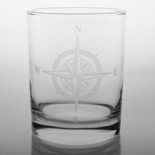 Rolf Glass Compass Rose 14 Oz DOF Glass (Set of 4)   223001S/4