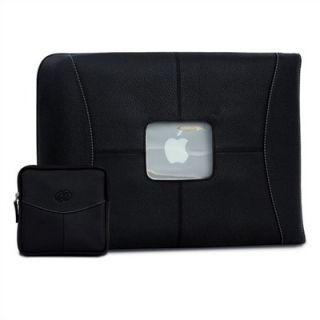 MacCase 13 Premium Leather Sleeve and Accessory Pouch Set in Black