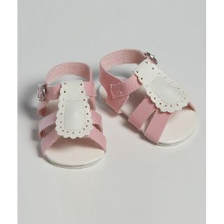 Adora Dolls 20 Doll Shoe Sandal Two Tome in Pink / White   20721023
