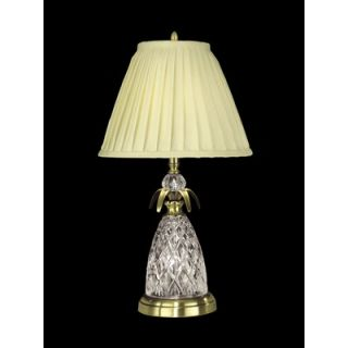 Dale Tiffany 25.5 Crystal Two Light Table Lamp in Antique Brass