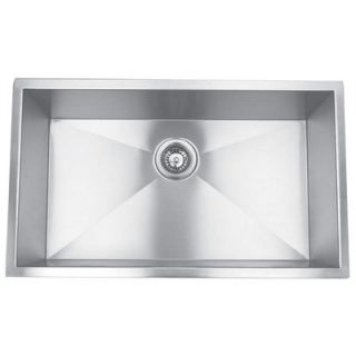 Yosemite Home Decor Stainless Steel Undermount Single Square Bowl