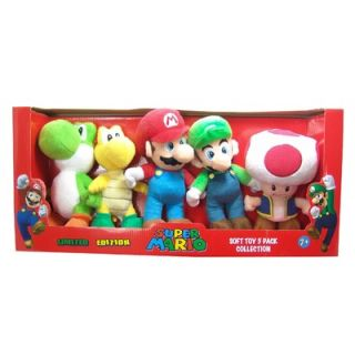 Goldie Marketing Super Mario Small Plush (Set of 5)
