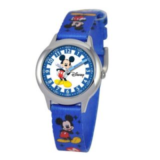 Disney Kids Mickey Mouse Time Teacher Watch in Blue