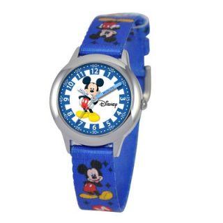 Disney Kids Mickey Mouse Time Teacher Watch in Blue