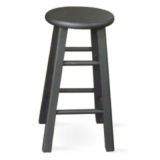 International Concepts 24 Roundtop Counter Stool (Black)   1S46 424