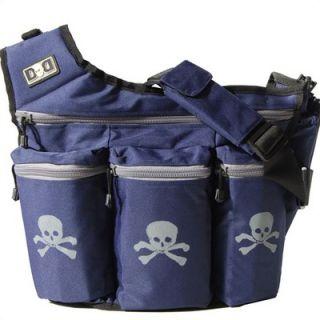 Diaper Dude Navy Skull & Cross Bones Diaper Bag