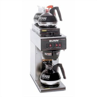 Bunn VP17 3 Pourover Coffee Maker in Stainless Steel (Two Top Warmers